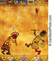 africano, tradicional, patrones