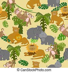 afrika, állatok,  seamless
