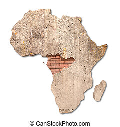 3d rendering of a textured africa map