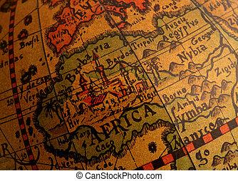 afrika, földgolyó, öreg