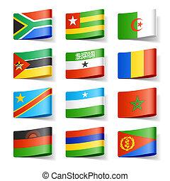 afrika., flags., värld