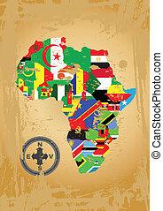 afrika, kaart