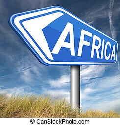 afrika, meldingsbord