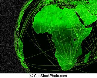 afrika, nätverk