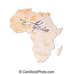 afrika, -, oud, papier, met, handschrift