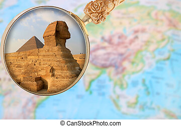 afrika, piramide, sphinx, egypte, giza