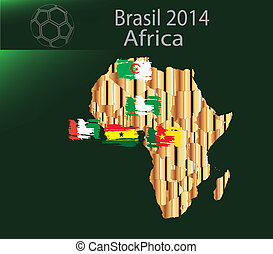 afrika -  team for brazil 2014 World cup