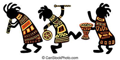 afrikaan, nationale, motieven