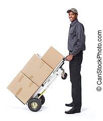 afrikaans-amerikaan, postman.
