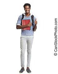 afrikaanse amerikaan, student.