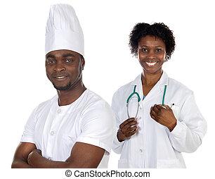 afrikaanse amerikaan, werkmannen