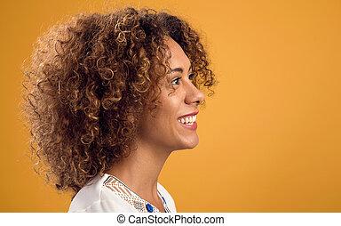 afrikaanse amerikaanse vrouw, mooi