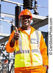 afrikai, elektromos mérnök, odaad, lapozgat feláll