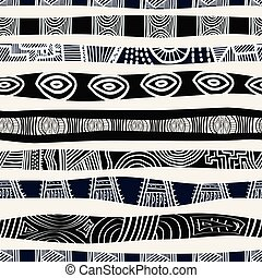 afrikai, etnikai, pattern., seamless