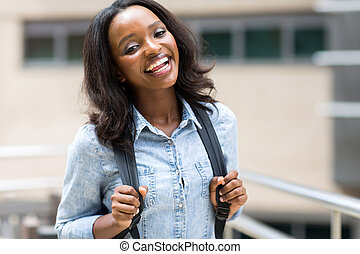 afrikanisch, akademiker, auf, campus