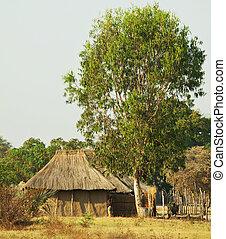 afrikanisch, dorf