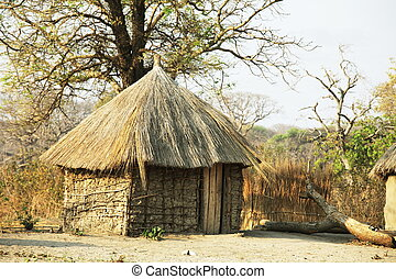 afrikanisch, hütte