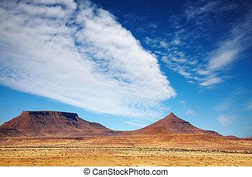 afrikanisch, landschaftsbild