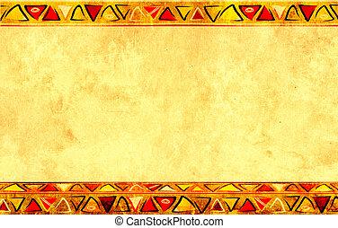 afrikanisch, national, muster