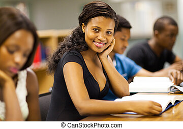 afrikanisch, studieren, studenten, universität