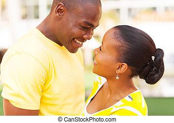 afrikanische amerikanische paare, liebe