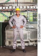 afrikanischer amerikaner, gewebe arbeiter, volle länge