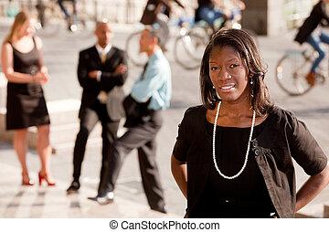 afrikanischer amerikaner, unternehmerin