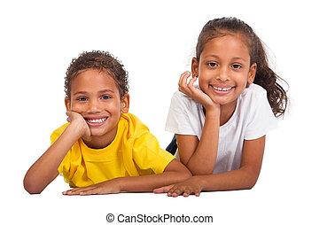 afrikansk amerikan, bror och syster