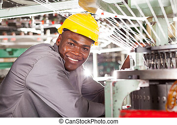 afrikansk amerikan, textilt verk, arbetare
