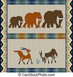 afrikansk, bakgrund, design