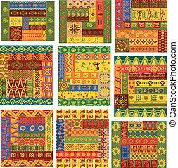 afrikansk, etnisk, mönster, och, agremanger