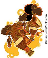 afrikansk, folk