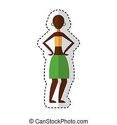 afrikansk kvinde, figur, ikon