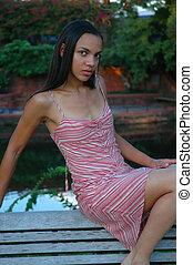 afrikansk, model, amerikaner