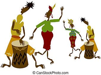 afrikansk, musiker
