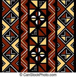 afrikansk, seamless, mönster