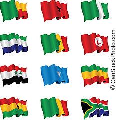 afrikas, flaggen