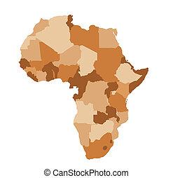 afrikas, landkarte