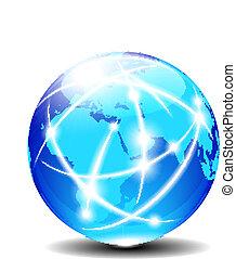 afrique, arabie, et, inde, global