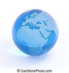afrique, globe, -, planète, europe, la terre