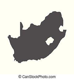 afrique, map., arrière-plan., vecteur, noir, blanc, sud, icône