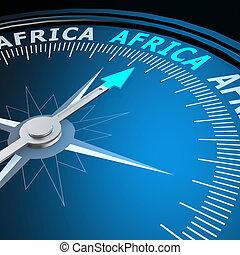 afrique, mot, compas