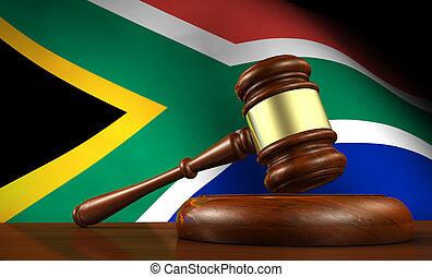 afrique sud, droit & loi, et, justice