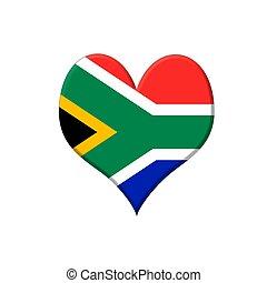 afrique sud, heart.