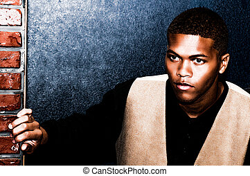 Afro-américain, jeune, homme