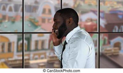 afro-américain, téléphone., type