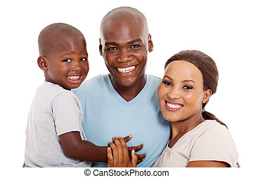 afro american family close up portrait