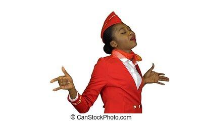 Afro american is dancing energetic dancing . Alpha channel -...