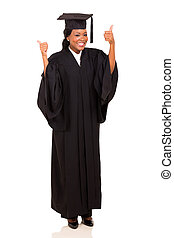 afro american university female graduate