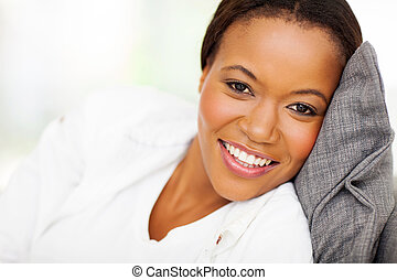 afro american woman close up
